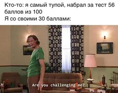 Are you challenging me? meme #4